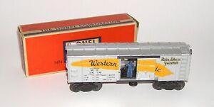 Lionel Postwar Western Pacific No. 3474 Operating Boxcar w/ BOX (DAKOTApaul)