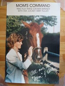 1985 FILLY TRIPLE CROWN WINNER Mom's Command with her Jockey ABBY FULLER Photo