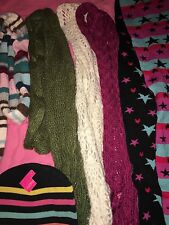 Lot Of 5 Women's Scarves And Hat Xhilaration Aeropostale Wet Seal