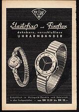 3w1875/ Alte Reklame von 1960 - ELASTOFIXO u. FIXOFLEX Uhrenarmbänder