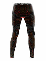 Raven Fightwear Men's Cybernetic Leggings Spats MMA BJJ Brown