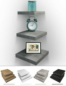 Sorbus Wall Mount Corner Shelves, Square Hanging Decor Wall Floating Shelves