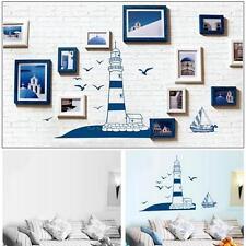 Nautical Boat Seagull Lighthouse Sea Ocean Art Wall Sticker Mural Home Decor S