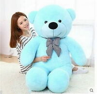 63'' Giant Big Teddy Bear Blue Plush Soft Toys Doll Stuffed Animal Birthday Gift