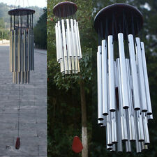 Living Wind Chimes Copper 27 Silver Tubes Home Hanging Outdoor Yard Garden Decor