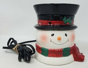 Scentsy Bluster Snowman Full-Size Wax Warmer Holiday Collection Retired