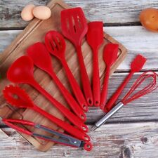 Kitchen Utensils, Silicone Heat-Resistant Non-Stick Set Cooking Tools 10 Piece