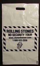 """1999 ROLLING STONES No Security Tour 12x20"""" Swag Bag VG+ 4.5 RARE"""