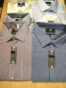 Ex M&S Performance PURE COTTON Mens Shirt Long Sleeve Non Iron Reg & SLIM FIT
