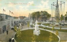 1910 Al Fresco Park, Amusement Rides, Peoria, Illinois Postcard