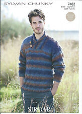 Sirdar Men's Sweaters/Clothes Crocheting & Knitting Patterns
