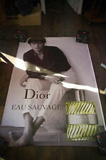 DIOR ALAIN DELON C 4x6 ft Bus Shelter Original Celebrity Fashion Poster