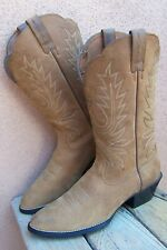 ARIAT  Womens Cowboy Western Boots Soft Buckskin Brown Leather Riding Size 7.5B