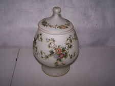 """ART GLASS HAND PAINTED ALL AROUND COVERED COMPOTE  9"""" TALL x 6"""" WIDE NO DAMAGE"""