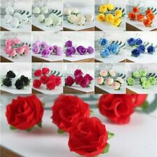 Simulation Silk Roses Flower Artificial Little Buds Wedding Decorated Fake Decor