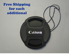 72mm Front lens cap Center-pinch leash for Canon EOS