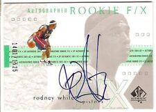 RODNEY WHITE AUTOGRAPH ROOKIE SERIAL #/1525 2001-02 SP AUTHENTIC DETROIT PISTONS