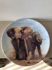 Wedgwood Bone China Plate David Shepherds Gentle Giants Of Africa