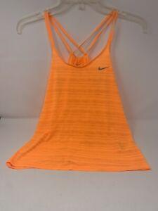 Nike Dri-Fit Women's Active Wear Orange Tank Top Size XL Pre-Owned