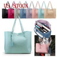 Women Synthetic Leather Handbag Shoulder Lady Purse Messenger Satchel Tote Bag