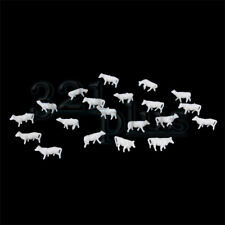 20 pcs. N Gauge Farm Animals N Scale Cows Cattle Cow Figures N Scale 1:160 Ox