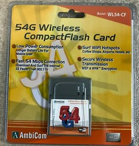 New Unopened AmbiCom WL54-CF 802.11g Wireless CompactFlash Card network adapter