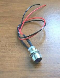 BBT 12 volt Bright Blue LED Indicator Light in Stainless Steel Bezel