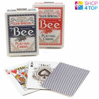 2 DECKS OF BEE STANDARD INDEX 1 RED 1 BLUE DECK POKER PLAYING CARDS USPCC NEW
