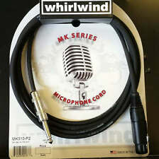 Whirlwind MK310 P2 XLR 10ft Microphone Cable Cord to 1/4 end USA