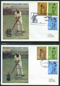 G.B. 1973 set 18 official Test & Count Cricket Board covers (2020/07/15#01)