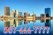 567 vanity Easy phone number (567)444-7777 Unique Neat double repeat with 7 Ohio