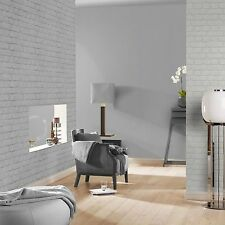 SILVER BRICK EFFECT WALLPAPER - RASCH 226751 - NEW ROOM DECOR