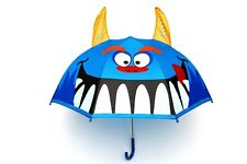 NEW Monster Design Childrens Boys Kids Umbrella Pop Up Horns