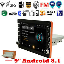 9in Android 8.1 Car Stereo GPS Navigation Radio Player 1 Din WIFI Mirror Link