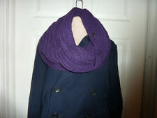 COACH 84014 Women's $198 NWT Alpaca Wool Chunky Twisted Infinity Scarf purple