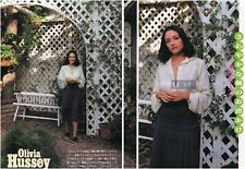OLIVIA HUSSEY 1979 Japan Picture Clippings 2-SHEETS nj/n