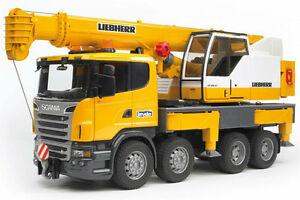 Bruder Liebherr crane Scania R-Series Truck with Light and Sound Module 03570
