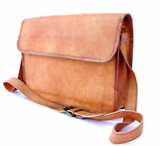 Men's Leather Messenger Bag Shoulder Business Briefcase Laptop Bags Handmade