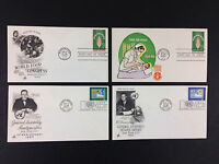 United Nations FDC First Day Cover Cachet 1963 Food Peace Assembly LOT X4 insert