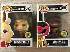 Funko Pop MUPPETS SDCC  Metallic MISS PIGGY + ANIMAL + HardStack ORIGINAL