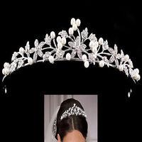 Vintage Damen Braut Strass Tiara Haarreif Krone Diademe Haarschmuck Hochzeit Top