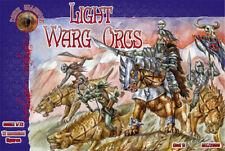 Light Warg Orcs - Scale Plastic Model (12 mounted figures) 1/72 Alliance 72009