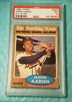 1962 Topps #394 Hank Aaron PSA 5 EX Excellent All-Star  Well Centered!