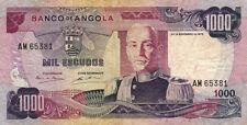 BILLET BANQUE ANGOLA 1000 escudos 1972 état voir scan 381