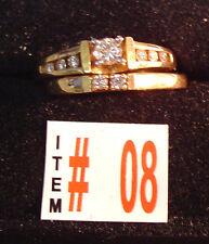Item #8 14K  Gold & .32 ct Total Diamonds Engagement Ring, Wedding Band Set, NEW