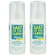 2-pack Salt Of The Earth NATURAL DEODORANT SPRAY Unscented 100ml