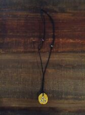Yellow Adjustable Triathlon (swim, bike, run) Clay Necklace
