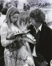 More details for doctor who autograph: tom baker & lalla ward (shada & leisure hive) signed photo
