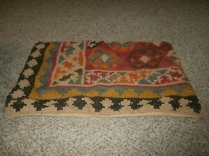 """Pottery Barn  Pillow Cover Wool/Cotton 16"""" x 26"""" Aztec Design"""