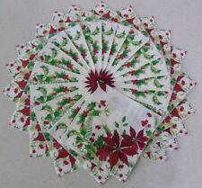 25 Poinsettia 2 Ply Paper Napkins